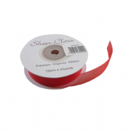 Red Organza Ribbon. 15mm X 22meters. Chiffon Ribbon